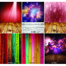 Vinyl Custom Photography Backdrops Prop Colorful Wooden Planks Theme Photo Studio Background CS20319-21 shengyongbao art cloth digital printed photography backdrops wood planks theme prop photo studio background jut 1631