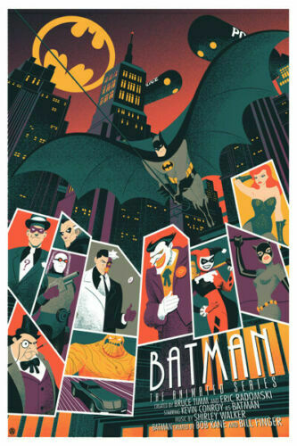 Batman The Animated Series Hot Comics Movie Silk Cloth Poster Art Bedroom Decoration image