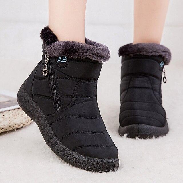 Botas femininas 2020 moda botas de neve à prova dwaterproof água para sapatos de inverno casual leve tornozelo botas mujer botas de inverno quente 2