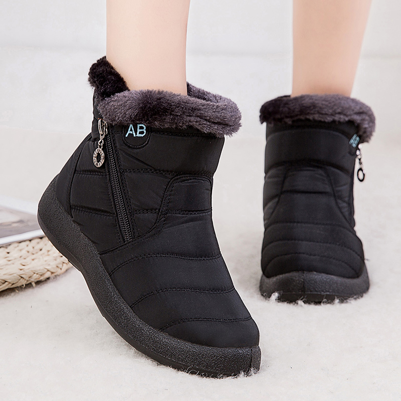 Women Boots 2019 New Waterproof Snow Boots For Winter Shoes Women Casual Lightweight Ankle Botas Mujer Warm Winter Boots Female 79