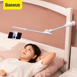 Image 1 - Baseus Foldable Mobile Phone Holder Adjustable Long Arm Lazy Phone Holder Clip Desk Tablet Mount Holder Stand For iPhone Samsung