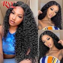 Brazylijski głęboka fala koronki przodu peruka z dzieckiem włosy koronkowe peruki RXY pre oskubane 13x4 koronki przodu włosów ludzkich peruk dla czarnych kobiet Remy włosy