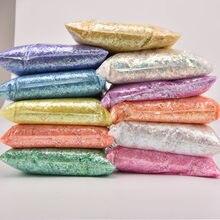 Lentejuelas de papel de concha Irregular para uñas, lentejuelas coloridas para decoración 3D para uñas, 20 g/paquete