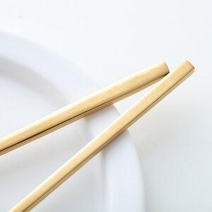 Image 5 - 24 adet yeni altın en kaliteli paslanmaz çelik biftek bıçağı çatal parti çatal bıçak kaşık seti altın çatal bıçak çatal seti