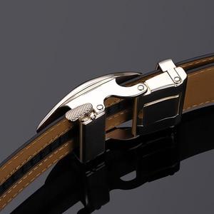 Image 2 - Couro genuíno de vaca cinta de luxo cintos masculinos para homens nova moda classice fivela automática cinto masculino alta qualidade