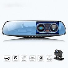جهاز تسجيل فيديو رقمي للسيارات HD 1080P مرآة مسجل فيديو Lenns 1200 ميجا داشكام مسجل فيديو مع مرآة الرؤية الخلفية الوقت والتاريخ عرض داش كام سيارة