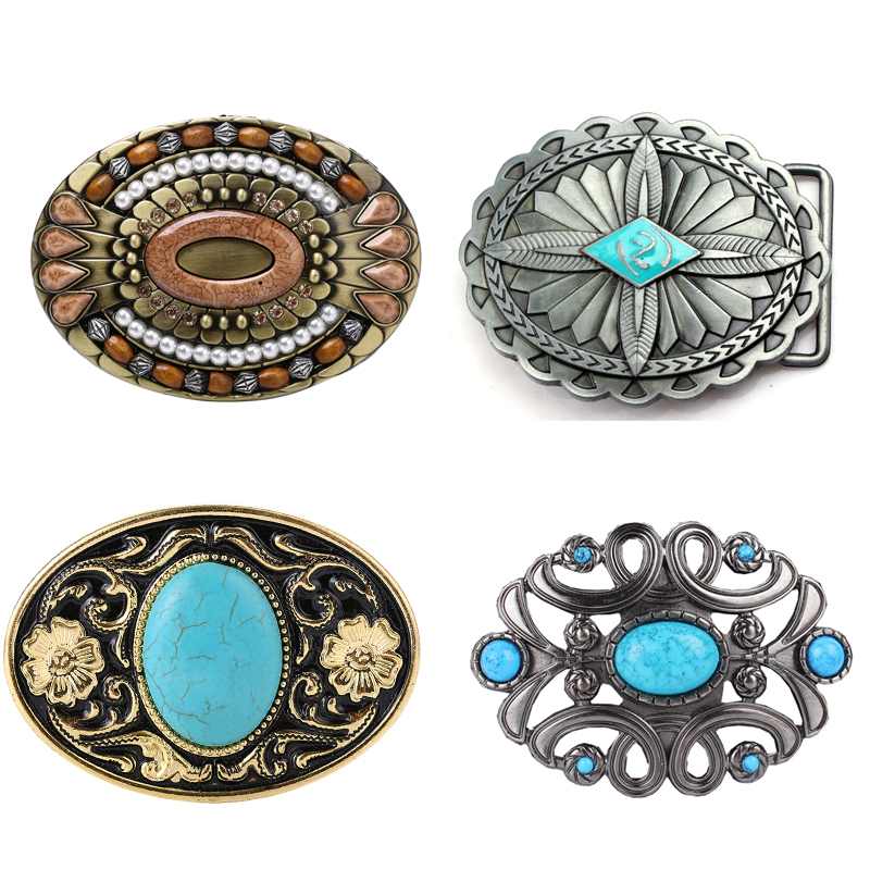 Retro Vintage Western Bohemian Boho Zinc Alloy Men Belt Buckle