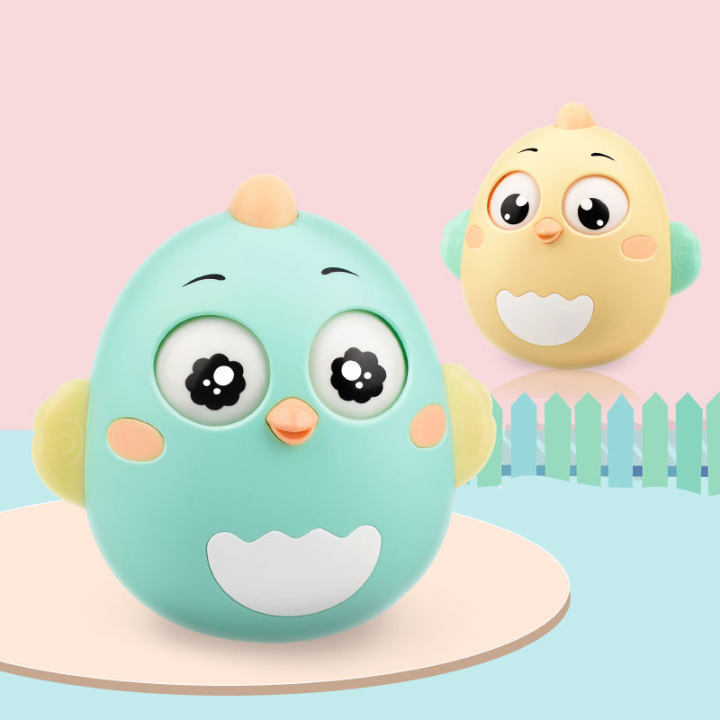 Baby Tumbler Toys Cute Little Chicken Tumbler Teether Tumbler Rattles Game For Newborn Gifts Baby Toys