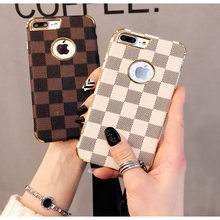 Checkerboard Plaid Checked TPU black Phone Case Shell for For iPhone 11 Pro Max 6 6s 7 8 Plus X XR XS Max Coque Shell(China)