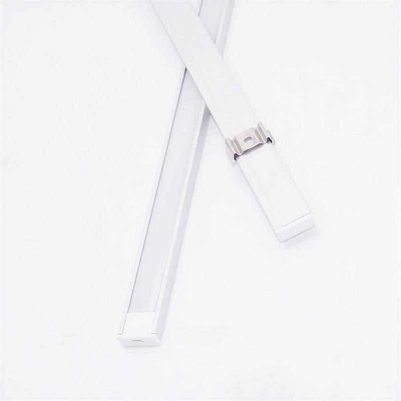 Image 5 - 20inch 0.5m/pc, LED aluminum profile matte diffuser flat ultra slim led channel for 12mm pcb,5V 12V 24V tape light housing-in LED Bar Lights from Lights & Lighting
