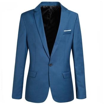 Men Business Suit Classic Male Suits Fashion Casual Solid Slim Blazer Slim Thin Blazer for Business Suit Plus Size 6XL