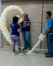 7x7.3ft Heart shaped balloon arch wedding decor