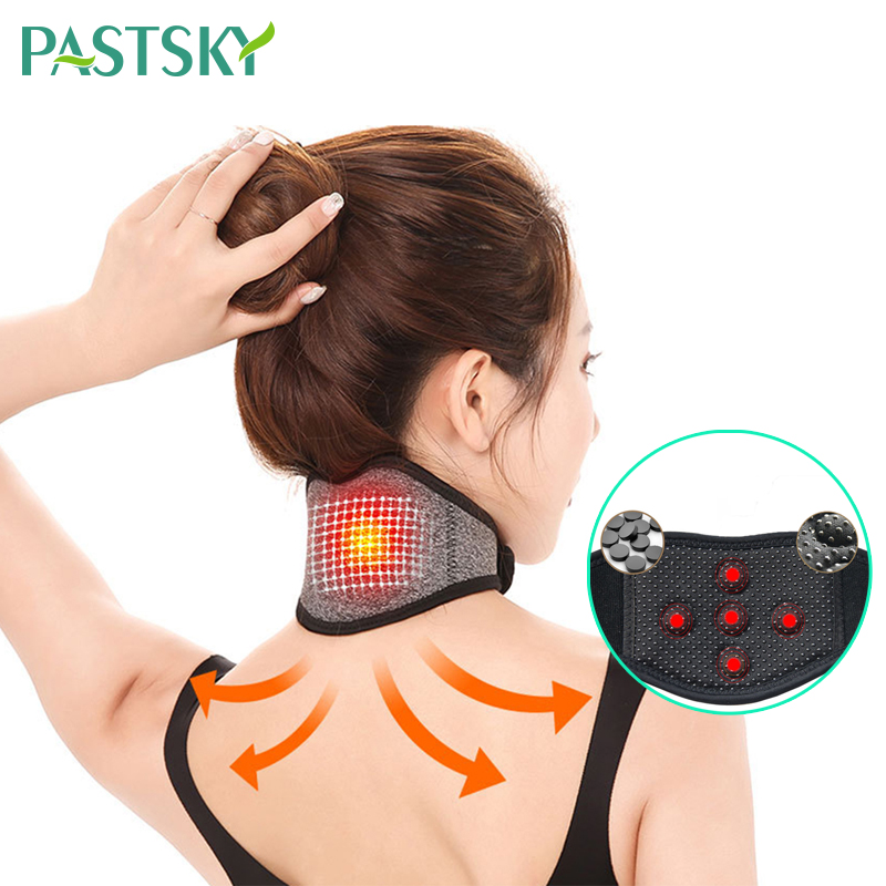 Adjustable Neck Tourmaline Self Heating Magnetic Neck Support Medical Magnetic Treatment Collar Neck Wrap Protector Pain Relieve