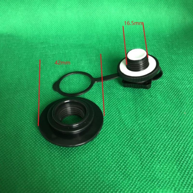 1pcs Air Valve Caps Inflate Deflate Airlock Spiral Air Plugs Replacement Screw For Inflatable Boat Kayak Canoe Raft Airbed Black