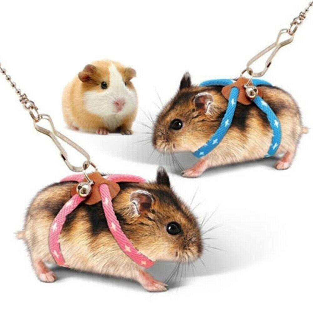 Cute Adjustable Rat Mouse Hamster Harness With Leash Squirrel Ferret Finder Small Pet Animal Outdoor Protective Lead Rope