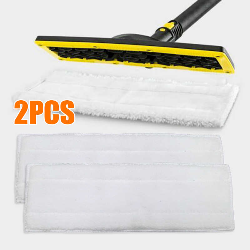 2PCS Cleaning Mop Cloths Pad Upgrade Parts for Karcher WV1 WV50 WV75