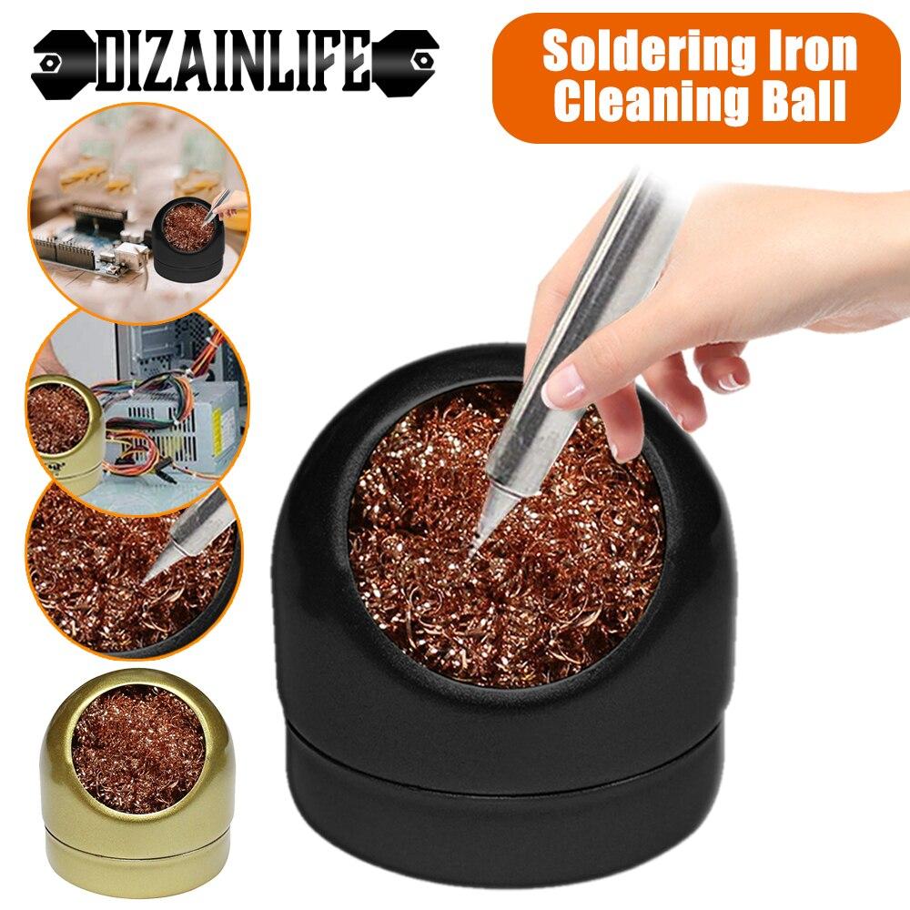 Boule de nettoyage pour fer à souder, fer à souder, maille, filtre, buse de nettoyage, cuivre, boîte à gouttes métalliques, boule de nettoyage pour fil