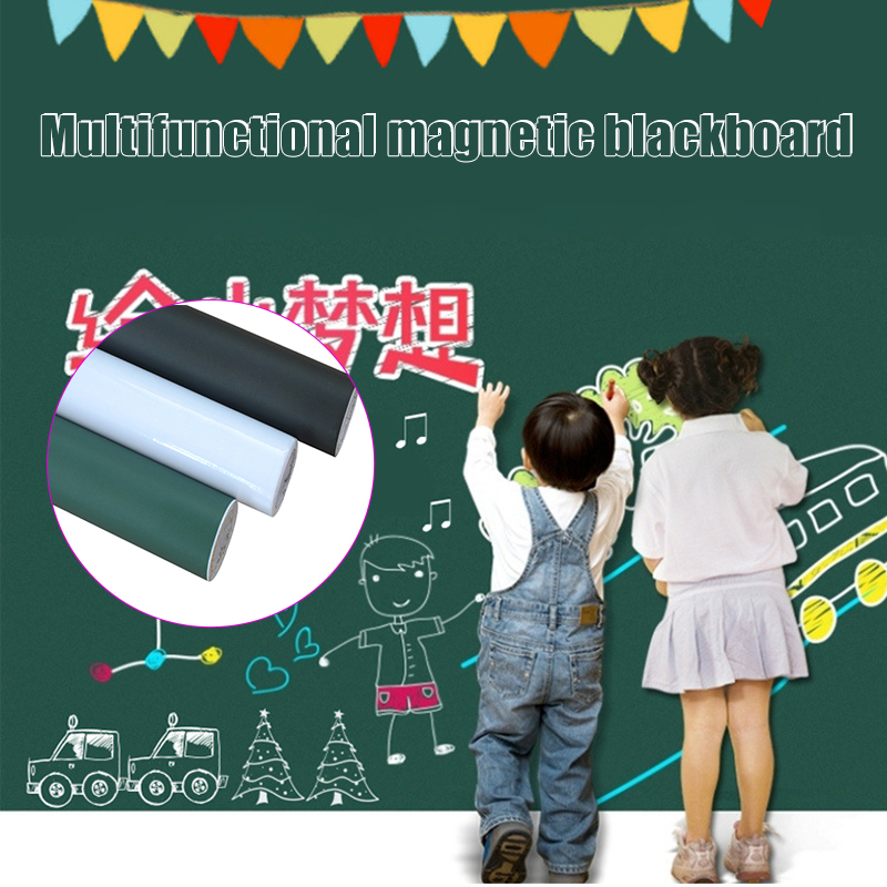Self-Adhesive Blackboard Wall Sticker Waterproof Reusable Chalkboard Black Board Poster VDX99