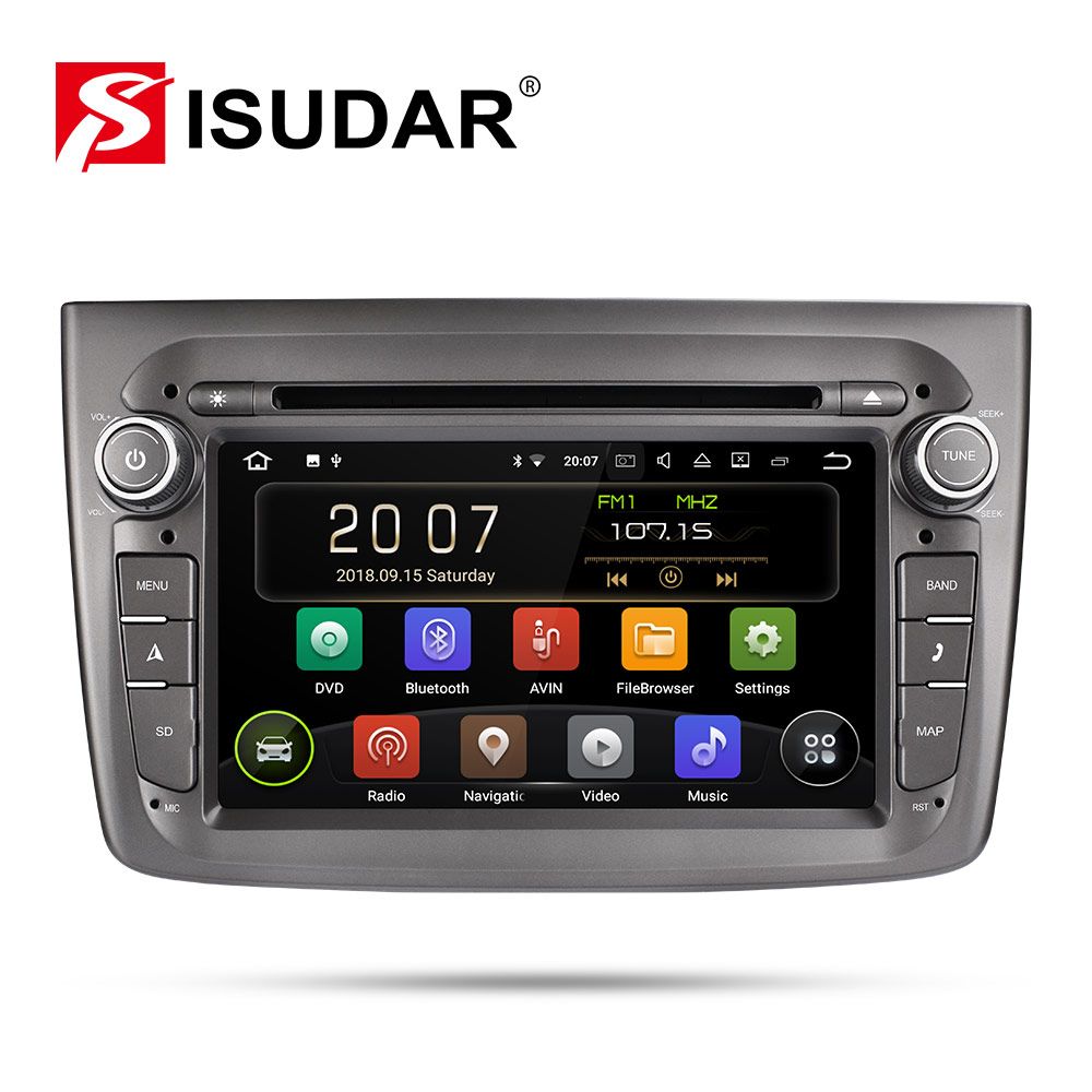 Isudar 1 Din Car Multimedia Player Android 9 For Alfa Romeo Mito 2008- CANBUS Auto Radio Quad Core Video DVD GPS System USB DVR image