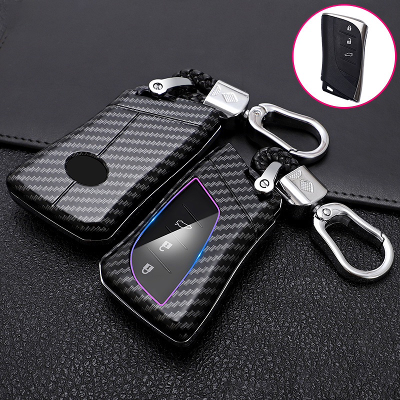 ABS Carbon Fiber Car Remote Key Case Cover Holder For Lexus IS ES GS GX LS500H NX RX LX LC RC 200 250 570 2018 2019 Accessories