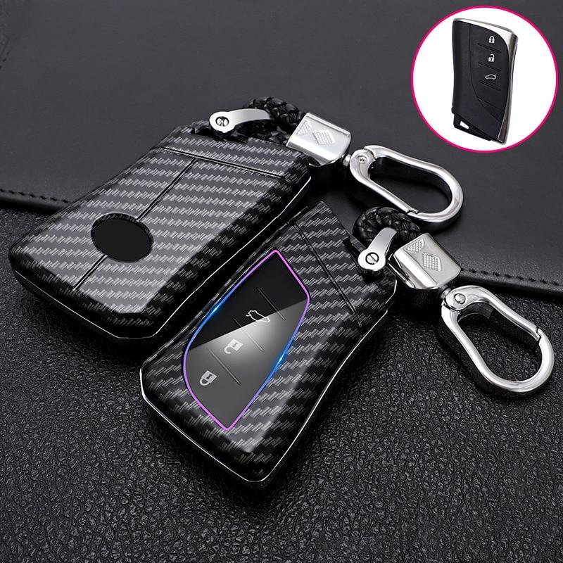 ABS Carbon Fiber Car Remote Key Case Cover Holder For Lexus IS ES GS GX LS500H NX RX LX LC RC 200 250 570 2018 2019 Accessories