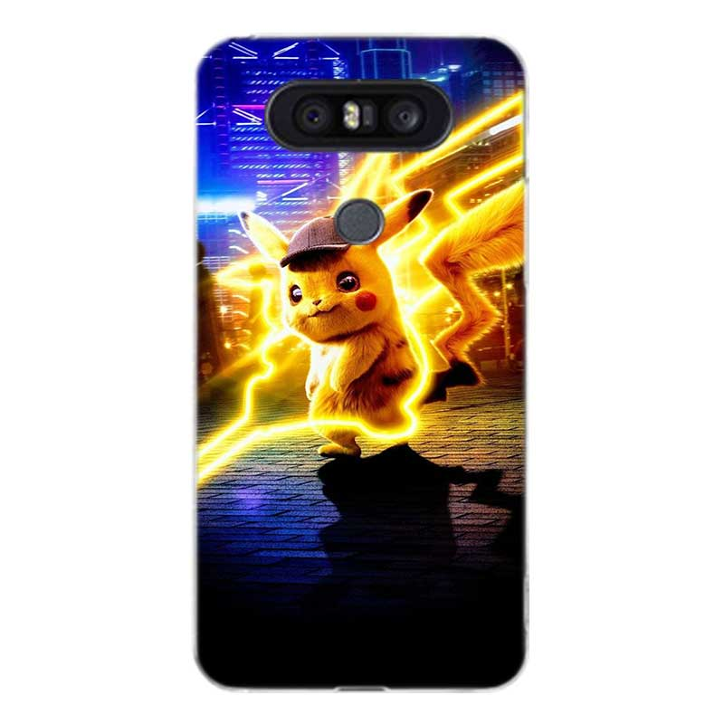Pokemons Cute Cartoon Fashion Soft Silicon Case For LG G7 G6 G5 G4 V40 V30 V20 V10 Q7 Q8 Q6 K8 K10 2018 2017 Shell Hull Cover in Fitted Cases from Cellphones Telecommunications