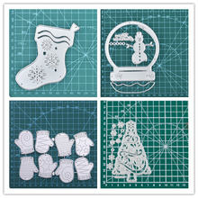 Yaminsannio Рождество серии Снежинка носок Металл резки штампы