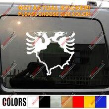 קוסובו מפת אלבניה פעמיים בראשות נשר מדבקות מדבקה לרכב ויניל לבחור גודל צבע b