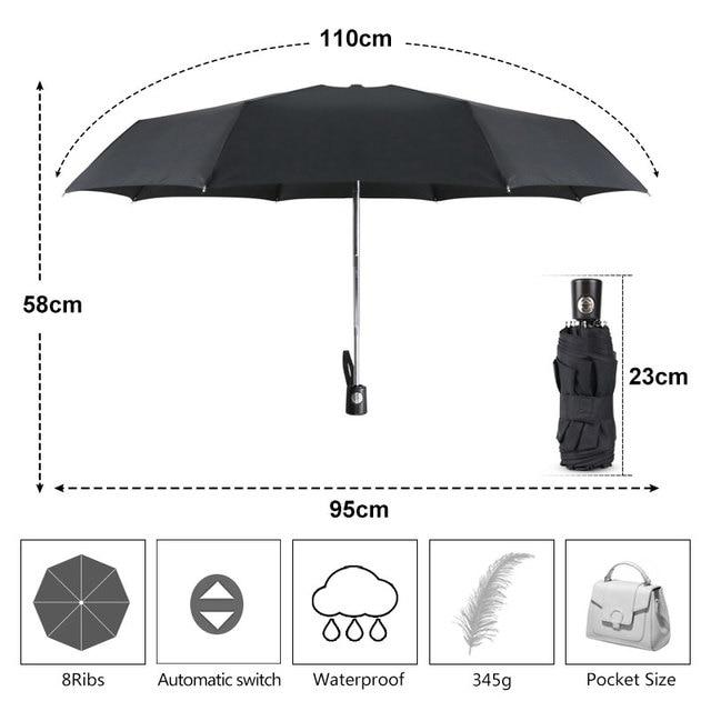Mini Automatic Umbrella Rain Women 5Folding Fashion Small Umbrella Women Ultralight UV Parasol Travel Outdoor Kids Men Umbrella 2