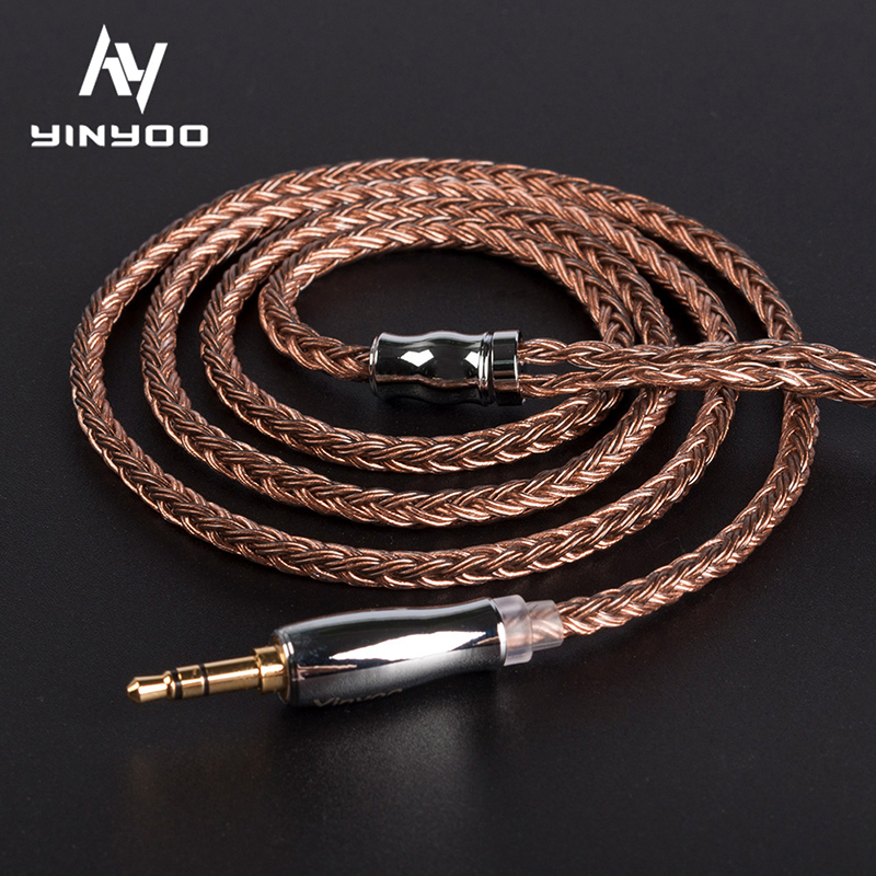 Yinyoo 16 Core High Purity Copper Cable 2.5/3.5/4.4MM With MMCX/2PIN/QDC TFZ FOR KZZS10Pro AS10 ZSNPRO C12 BA5 V90 BLON BL-03