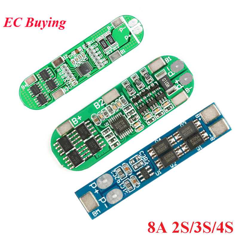2S 3S 4S 18650 Li-ion Lithium Battery Protection Board Charger Module PCB BMS Lipo Cell Board 8A/10A 7.4V 8.4V 12.6V 16.8V image