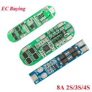 2 s 3 s 4S 18650 placa de proteção da bateria de lítio li-ion carregador módulo pwb bms lipo celular placa 8a/10a 7.4 v 8.4 v 12.6 v 16.8 v