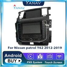 Автомобильная аудиосистема Android для Nissan патруль Y62 2012-2019, автомобильный GPS-навигатор, мультимедийный плеер, модифицированный до 2020 новых мед...