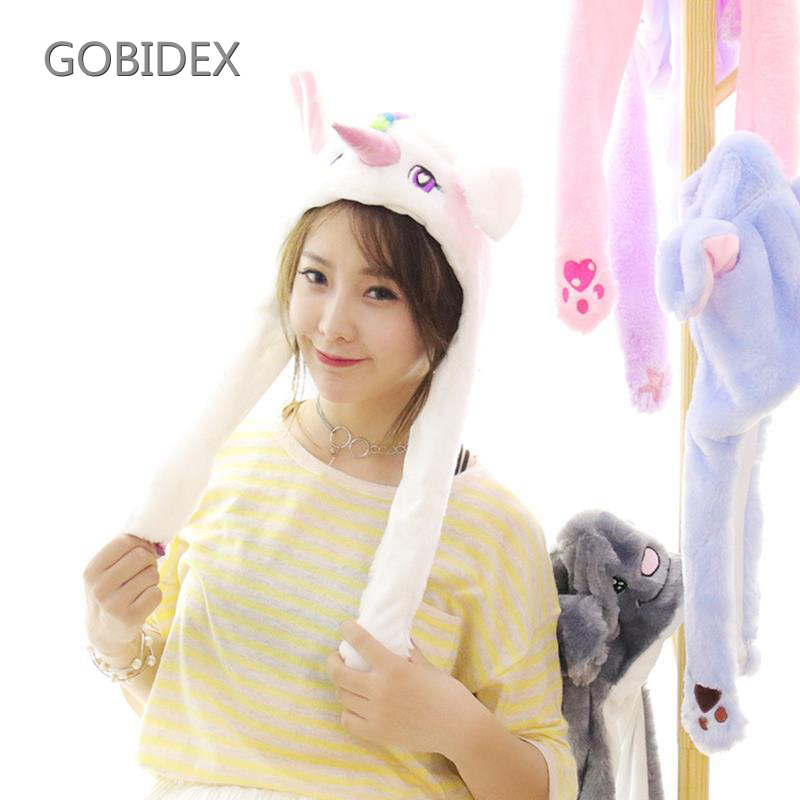 Lovely Ears Move Rabbit Panda Toy Hat Unicorn 14 Style ChildrenS Party Animal Hot Toys Interactive Gift For Children