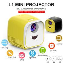 L1 Mini Projector 1080P Full HD LED Movie Projector Home Theater Video Projector With HDMI Cable For USB TF TV Laptop Game цена