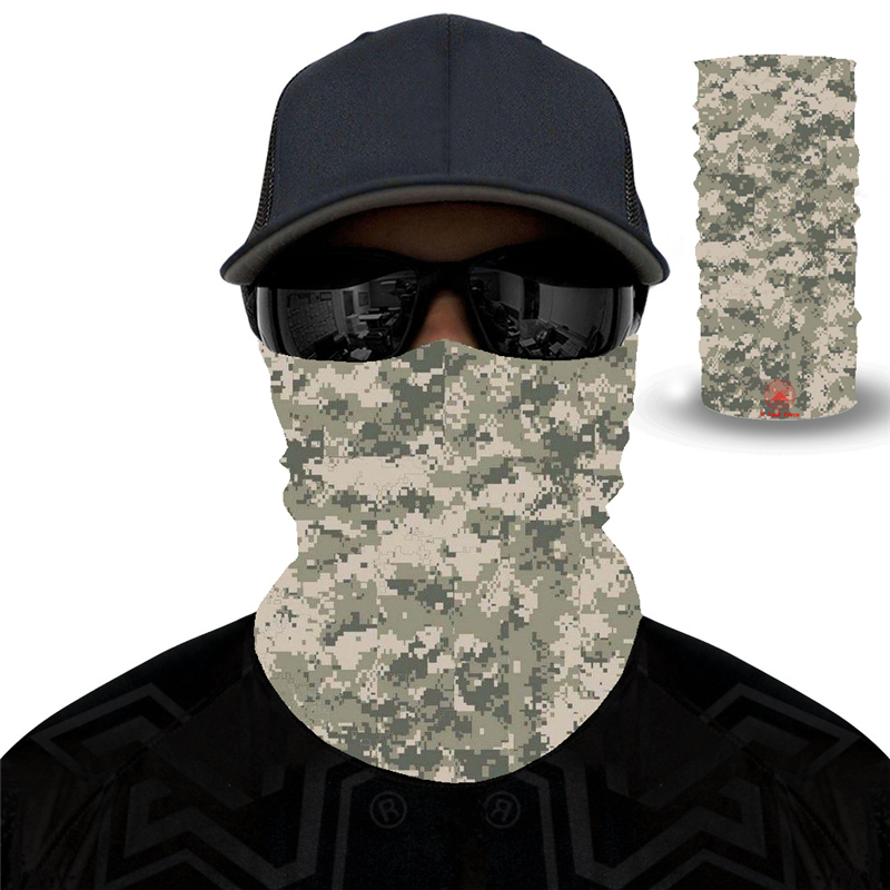 Sport Cycling Bandanas Camping Hiking Washouts Headwear Magic Scarf 27 Style Camouflage Polyester Scarves Face Dust Mask Outdoor
