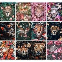 SDOYUNO – peinture à l'huile par numéros de cerf, 60x75cm, pour animaux adultes, sans cadre, toile, cadeau Unique