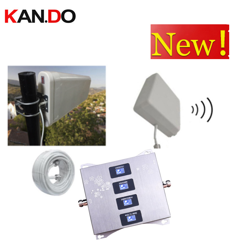 4G LTE800 900 1800 2100 Mhz Cell Phone Booster Four-Band GSM Mobile Signal Booster 2G 3G 4G LTE Cellular Repeater GSM DCS WCDMA