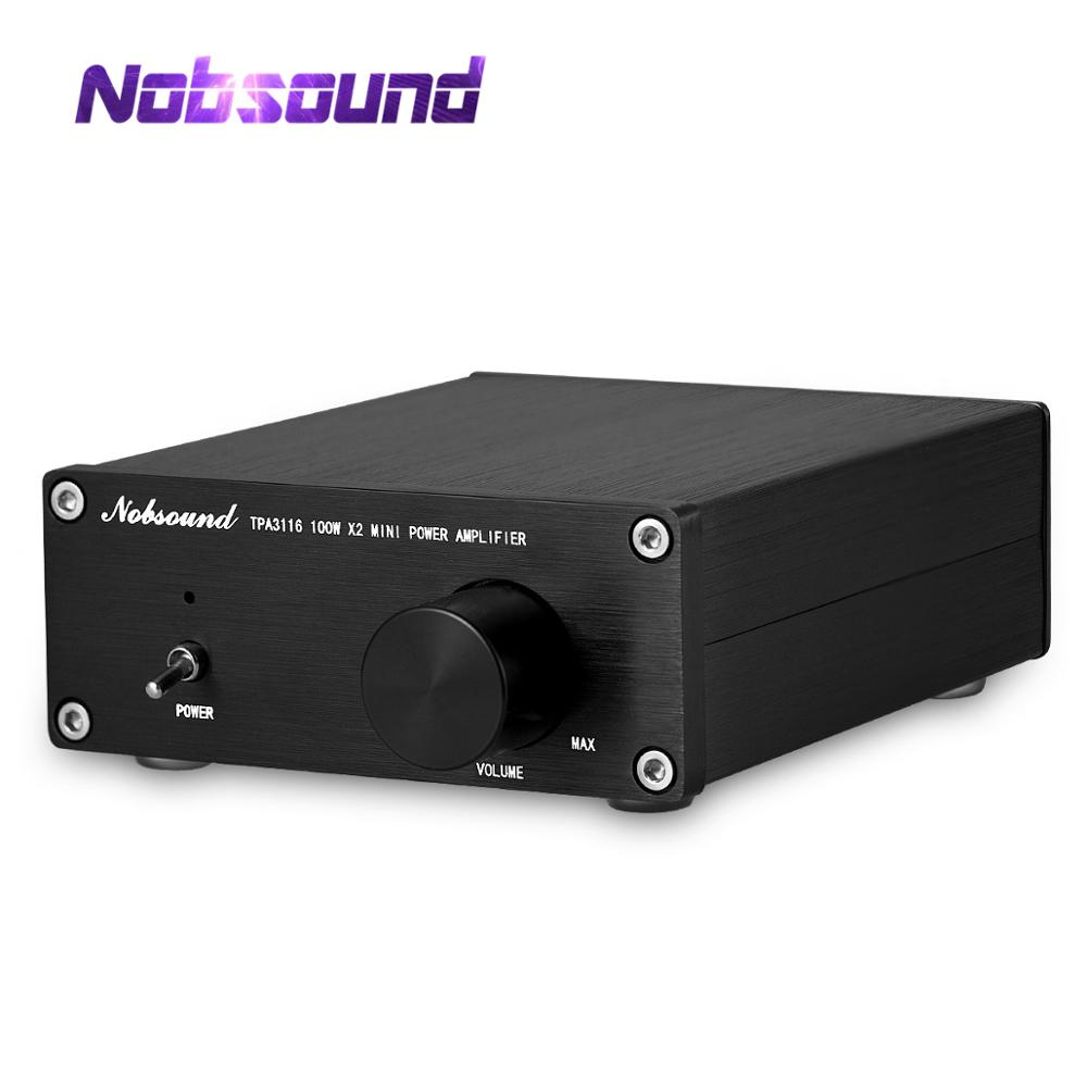 Nobsound Mini Digital Audio Power Verstärker HiFi TPA3116 Stereo Musik 2-Kanal 100W * 2 Schwarz Chassis