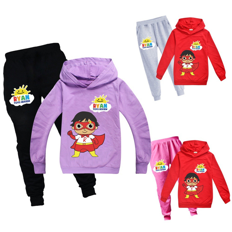 Ryan Toys Review New Boy Children Fashion Casual Hoodie shirt Kids Set