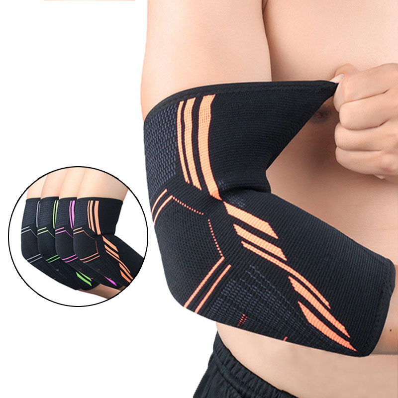 Elbow Support Sport Protector Elastic Sport Gym Elbow Protective Pad Absorb Sweat Basketball Arm Sleeve Elbow Brace