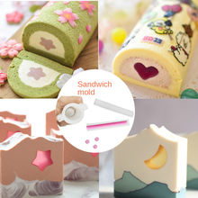 Cake DIY Mold Christmas Tree Dolphin Moon Love Round Silicone Tube Mold Cake Roll Sandwich Mold Various Styles