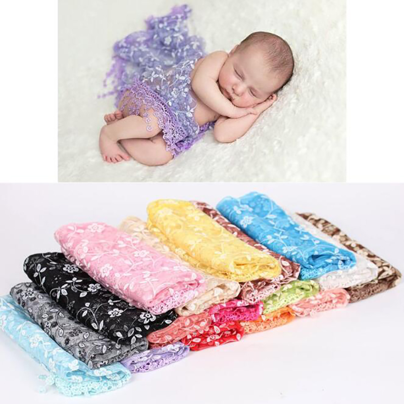 Noworodek noworodka rozciągliwy tło Wrap tkaniny kostium fotografia zdjęcie Prop stroje Stretch koronki Wrap noworodka fotografia rekwizyty