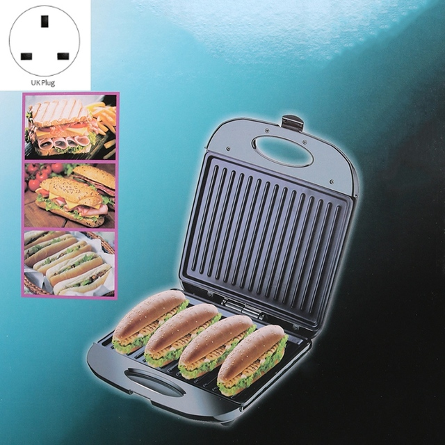 1400W Home Office Sandwich Machine Toaster Non-Stick Plate Electric Grill Sandwich Machine 50-60HZ UK Plug 2