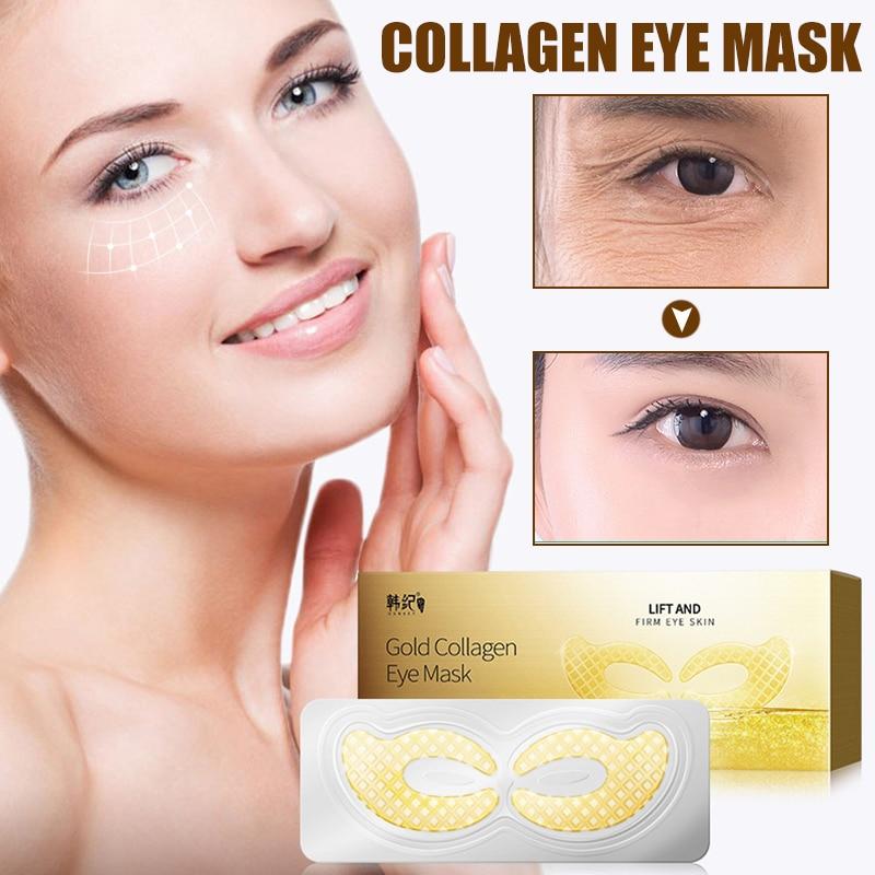 Hot 7pairs/set Collagen Eye Mask Moisturizing Diminishing Fine Lines Eye Mask For Women Skin Care t6