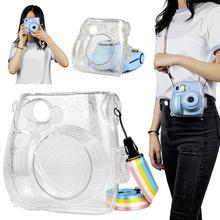 Блестящий Прозрачный Кристальный чехол Сумки, совместимые с Fujifilm Instax Mini7s/7c мгновенная пленка камеры сумки#823