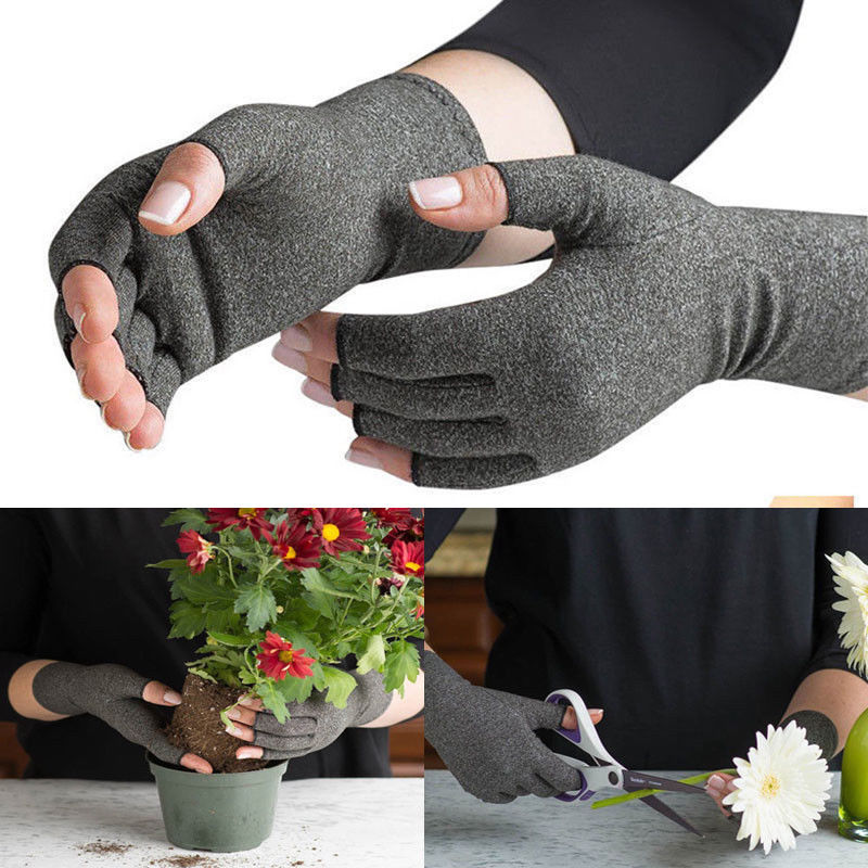 New Anti Arthritis Women Men's Fingerless Gloves Male Without Fingers Winter Gloves Winter Hand Warmer Knitted Gloves Ladies
