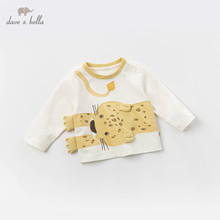 DBJ13523 1 dave bella baby boys print tees pullover children long sleeve t shirt infant toddler spring tops kids tees