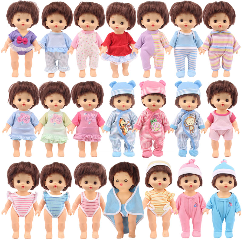 3 Sets Lovely Doll Clothes Pajamas Fit 25Cm Mellchan Baby Nenuco Doll Nenuco Y Su Hermanita Doll Accessories Generation Girl`s