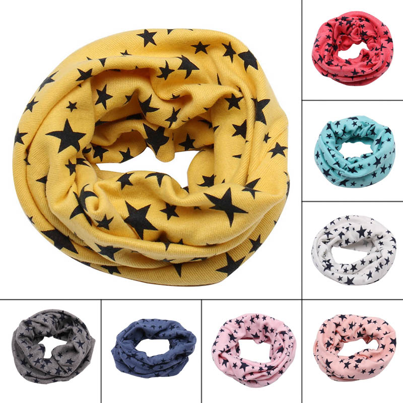 Children Kids Scarf Scarves Warm Loops Neckerchief Stars Fashion Comfortable For Winter SER88